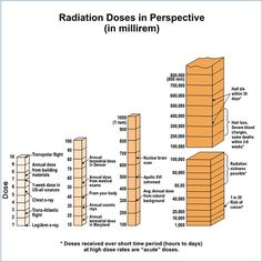 Radiation doses in perspective (from the NRC). Radiation Dose, Radiation Exposure, Physics Formulas, Rad Tech, Atomic Age, Transcription, Biochemistry, Radiology, Need To Know