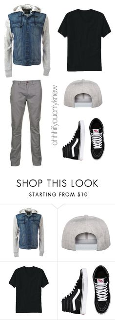 """Untitled #229"" by ohhhifyouonlyknew ❤ liked on Polyvore featuring Flexfit, Old Navy, Vans, Just A Cheap Shirt, men's fashion and menswear"