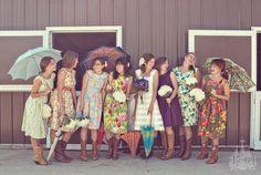 floral bridesmaid tea dresses cowboy boots Lydia Jane photography for Sohomade at Etsy