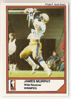 James Murphy CFL card 1984 Jogo  81 Winnipeg Blue Bombers Utah State Aggies  Hall of 13c05c62f