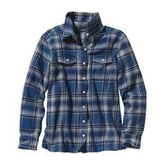 Patagonia Women\'s Long-Sleeved Fjord Flannel Shirt - Handicraft: Glass Blue HCGB