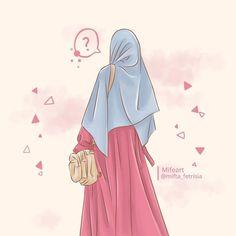 "Mifeart (Pencil Art): ""Caption by ustadz Felix Siauw - Auratmu Dosaku Sebebas-be. Wallpaper Hp, Islamic Quotes Wallpaper, Cute Girl Wallpaper, Laptop Wallpaper, Hijabi Girl, Girl Hijab, Muslim Girls, Muslim Women, Muslim Fashion"