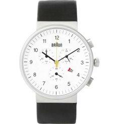 Love the Braun x Dieter Rams BN0035 Stainless Steel Chronograph Watch on Wantering.