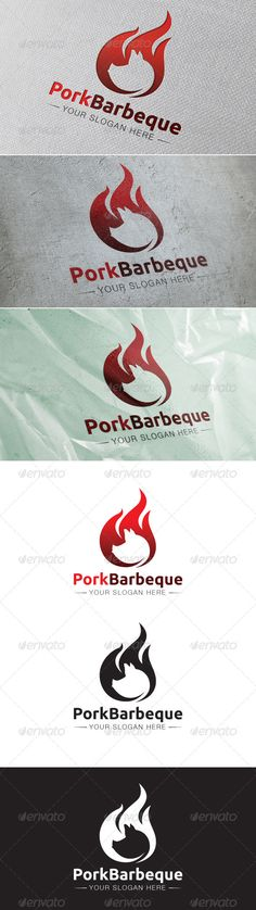 Pork Barbeque Logo Template — Vector EPS #outdoor #bbq • Available here → https://graphicriver.net/item/pork-barbeque-logo-template/6548340?ref=pxcr