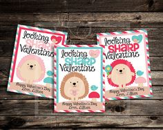 Hedgehog Valentine Cards  Custom Valentine's Day by SkyeFields