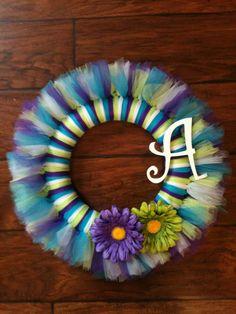 Personalized Tutu Wreath. $28.00, via Etsy.