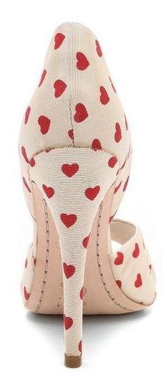 Gigi Heart Print d'Orsay Pumps | LBV ♥✤