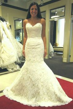 Wedding dresses lace fitted yellow