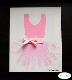 How CUTE! Ballerina hand print craft