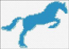 Cross Stitch | Blue Horse xstitch Chart | Design