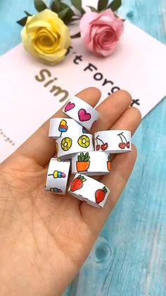 How to make a sticker rolls Diy Crafts Hacks, Diy Crafts For Gifts, Diy Arts And Crafts, Creative Crafts, Handmade Crafts, Cool Paper Crafts, Paper Crafts Origami, Fun Crafts, Crafts For Kids