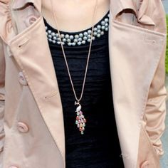 New Fashion Trendy Peacock Long Colourful Crystal Necklaces & Pendants For Women New Fashion, Trendy Fashion, Crystal Necklace, Pendant Necklace, Fashion Jewelry, Women Jewelry, Long Sweaters, Peacock, Washer Necklace