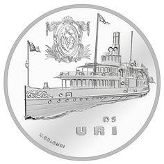 20 Franken Silber Dampfschiff Uri PP
