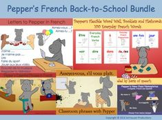 Pepper's back-to-school bundle includes five of her products to get your classroom started on the right paw.  The five products in the bundle can be viewed, or be bought separately, at the following links.Letters to Pepper for year-long assessment records, creative writing activities and in-class tests.Essential Phrases in a pocket book and a board game to help students speak politely and listen to each other immediately.Classroom Phrases so students can follow directions.Word Wall…