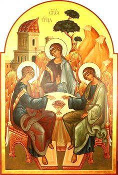 Батько моя надія; Син є моє пристановище; Святий Дух є моїм захисником. Все-Свята Трійця, слава Тобі.