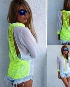 Neon lace back! <3