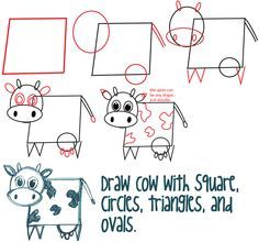 Silly draw cow