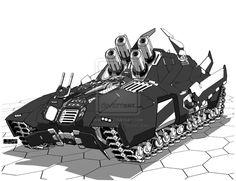 Comm: Artillery Jumptank by mattPLOG on DeviantArt