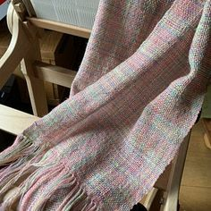 Gloriously soft laceweight silver sparkle merino yarn handdye din shade Unicorn Clouds by Perran Yarns on Etsy - which makes a beautiful plain woven scarf with an interesting colourway on a rigid heddle loom