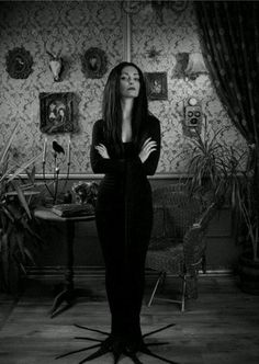 Morticia Addams (Carolyn Jones).  Setting aside the comedic and ghoulish frame of reference, Morticia Addams was a model TV matriarch who commanded authority, respect and affection.
