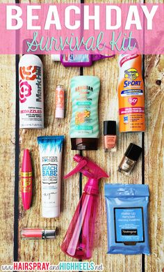 Beach Day Survival Kit Perfect for Spring Break
