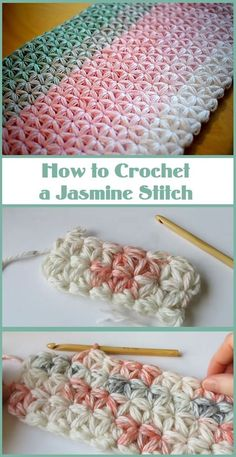 Jasmine stitch is one of the most profound and beautiful stitches in the crochet world. today we are going to learn how to crochet a jasmine stitch exactly. In order to achieve the perfect… Crochet Unique, Crochet Simple, Free Crochet, Knit Crochet, Crochet Twist, Crochet Fabric, Crochet Humor, Knit Lace, Beautiful Crochet