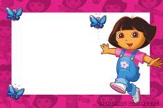 Montando Surpresas: Moldura gratuita da Dora Aventureira