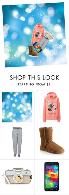 """""""Snowday #noschool"""" by amypena1029 ❤ liked on Polyvore featuring Uniqlo, Topshop, UGG and Accessorize"""