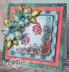 Heartfelt Creations   Blue Hibiscus Under The Sea