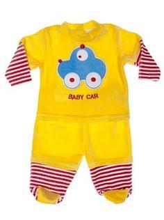 F.S. Baby Conjunto Dos Piezas Camiseta Y Pantalón (Amarillo)