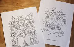 Fairy Colouring Page, Printable Coloring, Kids Colouring Pages, Fairy Colouring PDF, Downloadable Colouring Page, Set of 5
