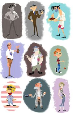 STEPHEN SILVER Character Illustrations