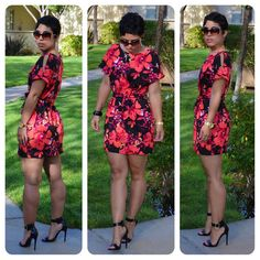 mimi g.: #DIY Bold Floral Dress + Pattern Review: B5889 Misses Top, Tunic and Belt