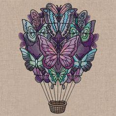 Butterfly Balloon design (UT18634) from UrbanThreads.com