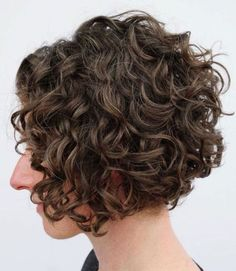 layered curly hair Jaw-Length Curly Brown Bob When youre looking for an easy-to-style haircut for your wavy, curly hair, go for a classic, jaw-length bob with layered ringlets. Haircuts For Curly Hair, Curly Hair Cuts, Permed Hairstyles, Short Hair Cuts, Curly Hair Styles, Girl Hairstyles, Short Layered Curly Hair, Short Layered Haircuts, Thin Wavy Hair