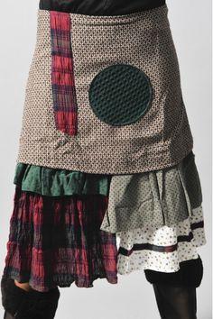 Love the layers--- Jupe en coton marron Ian Mosh - L'Amazone-store.com