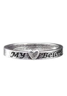 My Heart Belongs To A Soldier Ring