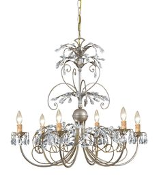 Crystorama 6 Light crystal Chandelier - 4926from Decora USA