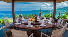 It's gonna be a #beautiful #breakfast #day overlooking the blue ocean at #Villa Horizon.