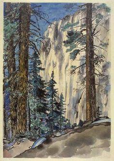Eagle Peak Trail by Chiura Obata, 1930