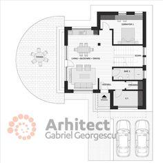 Casa cu etaj 67   Proiecte de case personalizate   Arhitect Gabriel Georgescu & Echipa Design Case, Floor Plans, Floor Plan Drawing, House Floor Plans