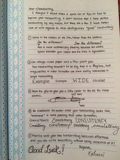 "staedtlers-and-stabilos: "" Handwriting Tips from Reddit """