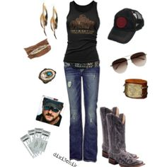 Country concert outfit idea!