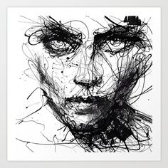 In+trouble,+she+will.+Art+Print+by+Agnes-cecile+-+$20.00