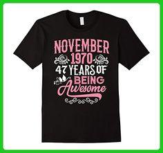 Mens November 1970, 47 Years Being Awesome 47th Birthday Gift 2XL Black - Birthday shirts (*Amazon Partner-Link)