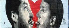 SAN CIPRIANO PICENTINO: Renzi-Salvini: that's amore, ma è solo un murales
