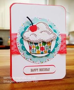 Cupcake card using Sprinkles of Life stamp set by Stampin' Up!