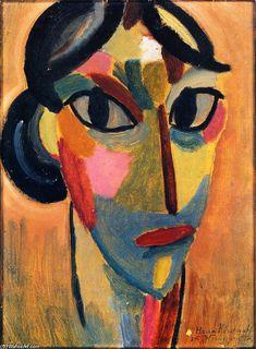 Alexej von Jawlensky - -Jawlensky heeft zich in de laatste 20 jaar… Abstract Faces, Abstract Portrait, Abstract Art, Franz Marc, Arte Pop, Art Plastique, Schmidt, Art World, Figurative Art