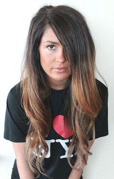 Donker haar met lichte ombre #Ombre #Hair