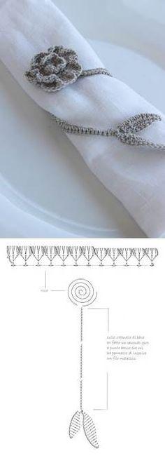 Crochet Napking Ring - Chart * Moss ༺✿ƬⱤღ https://www.pinterest.com/teretegui/✿༻